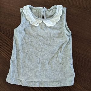 👶5/$20!! Gap Lace Collared Top